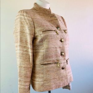 Zara Jackets & Coats - Zara Basic Jacket Pink & Gold Size L